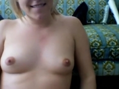 Golden-Haired GF stripping and masturbating