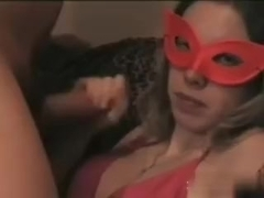 Shooting my load all over her face after a lengthy fucking.