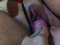 Playing with a juicy pussy