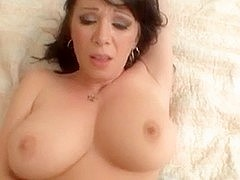 Sexy Breasty Brunette Hair Cougar POV