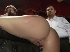 19 year old All Natural Slut Gets fucked in Bondage at an elegant party