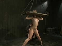 Fresh innocent girl bound and made to cum, confused between pain and pleasure
