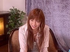 Amazing masturbation show along hot Serina Hayakawa