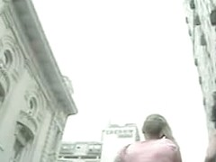 Hot blonde walking in a skirt on a cloudy day upskirt porno vid