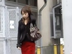 Delicate Japanese darling getting spanked during hot sharking attack