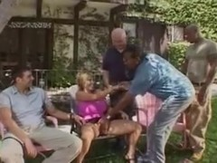 Husbands Watches Wife Gangbanged By Black Guys