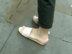 Mature Sexy Feet Soles Toes In Flat Sandals