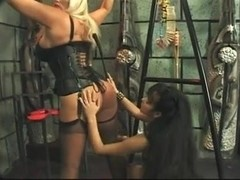 Mistress titty play, boot licking