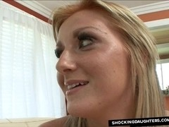 Br#ther Fucking S#sters Hot Blond Friend With Facial