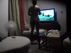 Playing wii at home