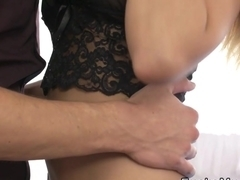 Busty Milf wears sexy lingerie for her man