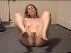 Hairy wife showing her mature cunt