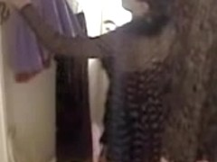 Girl changing before mirror and flashing the nudity