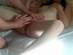 Homemade Wife's Cunt then Cum on Tits