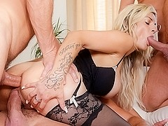 Klarisa Leone, George Uhl, Ricky Silverado, Neeo in 4 On 1 Gang Bangs #04, Scene #02