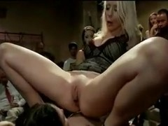 Tied bitches get fisted in kinky porn film