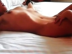Beautiful bound girl vibrated to an orgasm