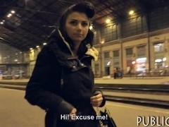 Czech girl picked up on train station and fucked for cash