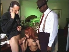 British wench Flick Shagwell acquires screwed in a FMM 3some