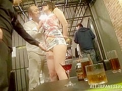 Hot Asian models enjoy a group fuck party