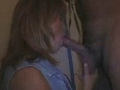 MILF sucking dick