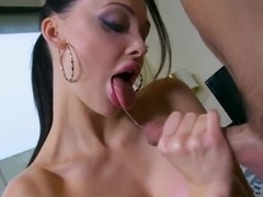 Aletta Ocean giving blowjob, tugjob & footjob