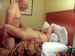 Cumming All Over Another Man's Wife's Shaved Pussy