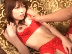 Hottest Japanese slut Ibuki in Fabulous JAV uncensored Stockings scene