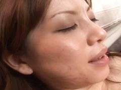Sexy Asian doll Asahi Miura is stripped and ravished by