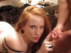 Pierced Older Wife Doing Home Rod Engulf for Fatty Spouse
