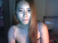 Pretty Asian babes having fuck on a webcam show