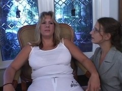 Golden-Haired big beautiful woman receives screwed and love muffins overspread in cum