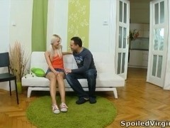 Violetta is a sexy blonde virgin who has never had sex before today with her man.