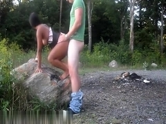 Nice sex action outdoors