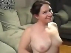 Chunky angel opens her throat wide for cum
