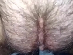 Playing with her hirsute pussy by fingering it and tongue fucking