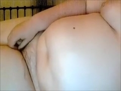 Nasty obese strumpet pleases her snapper with marital-device