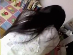 Asian girl pov oral and doggystyle sex in her bedroom