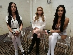Best lesbian, anal sex video with horny pornstars Breanne Benson, Lexi Belle and Brandy Aniston from Footworship