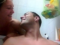 German Teen Couple Taking An Online Bath and Fuck