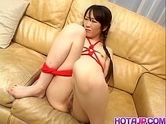 Ageha in ropes gets vibrator