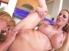 A couple of blonde lezzies having sex on camera