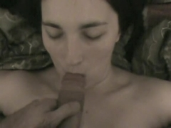 Deep skull fuck and a facial for my gf