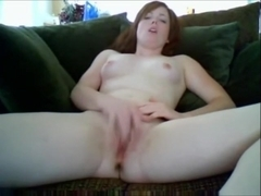 Hot redhead on web camera to boyfriend