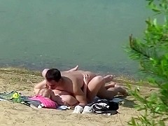 Spying on a wild pair fucking by the lake