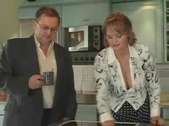 Horny Milf Fucks Over Breakfast