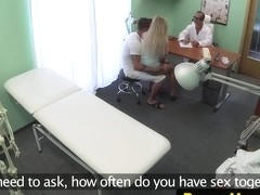 Real couple fucking while doctor observs