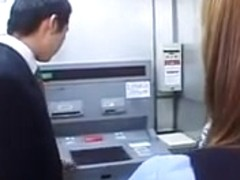Four Japanese OLs spitting on coworker