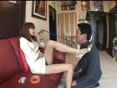 Asian teen mistress dominating submissive male