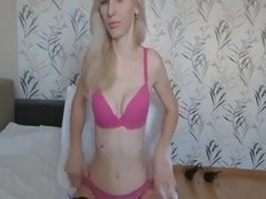 College Blonde Teen Fucks Her Tight Pussy